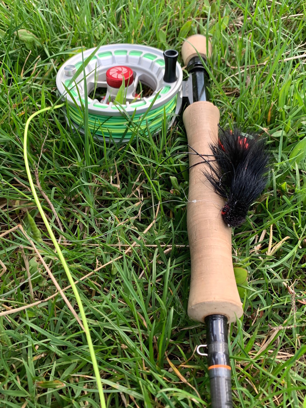 My chosen flyfishing setup for chasing Murray Cod here in the Australian high country.