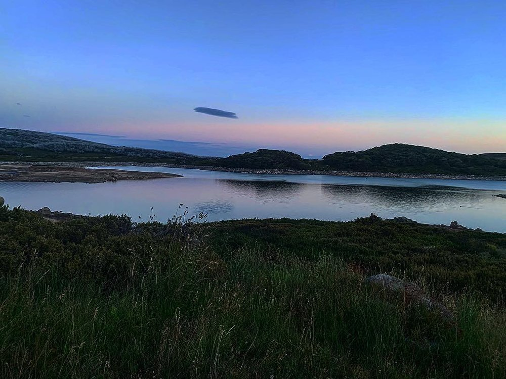 Dusk at one of the nearby high lakes…