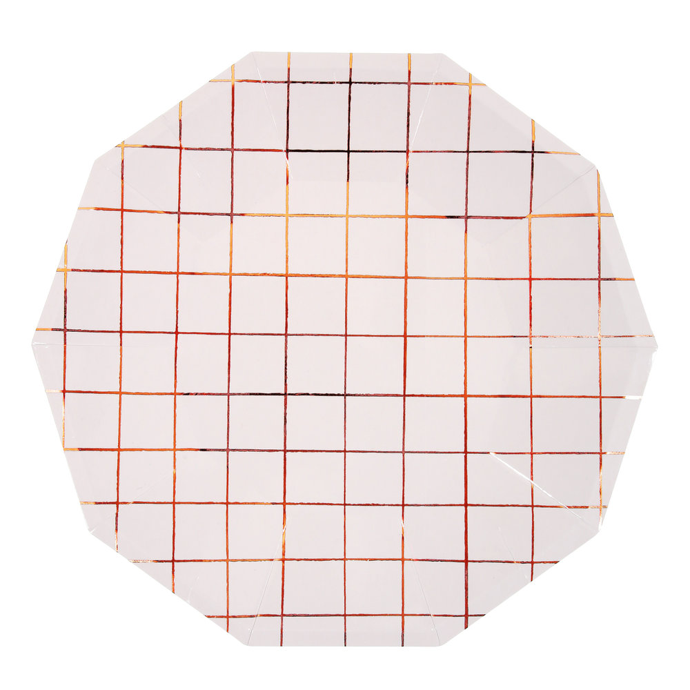 ROSE GOLD GRID   PAPER PLATES  sc 1 st  otherletters & ROSE GOLD GRID   PAPER PLATES \u2014 OTHERLETTERS