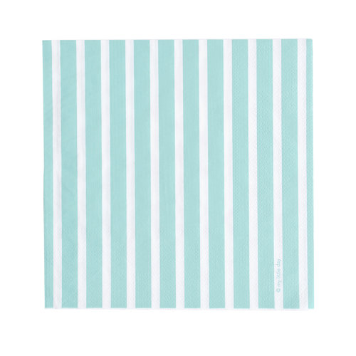aqua stripe napkins otherletters
