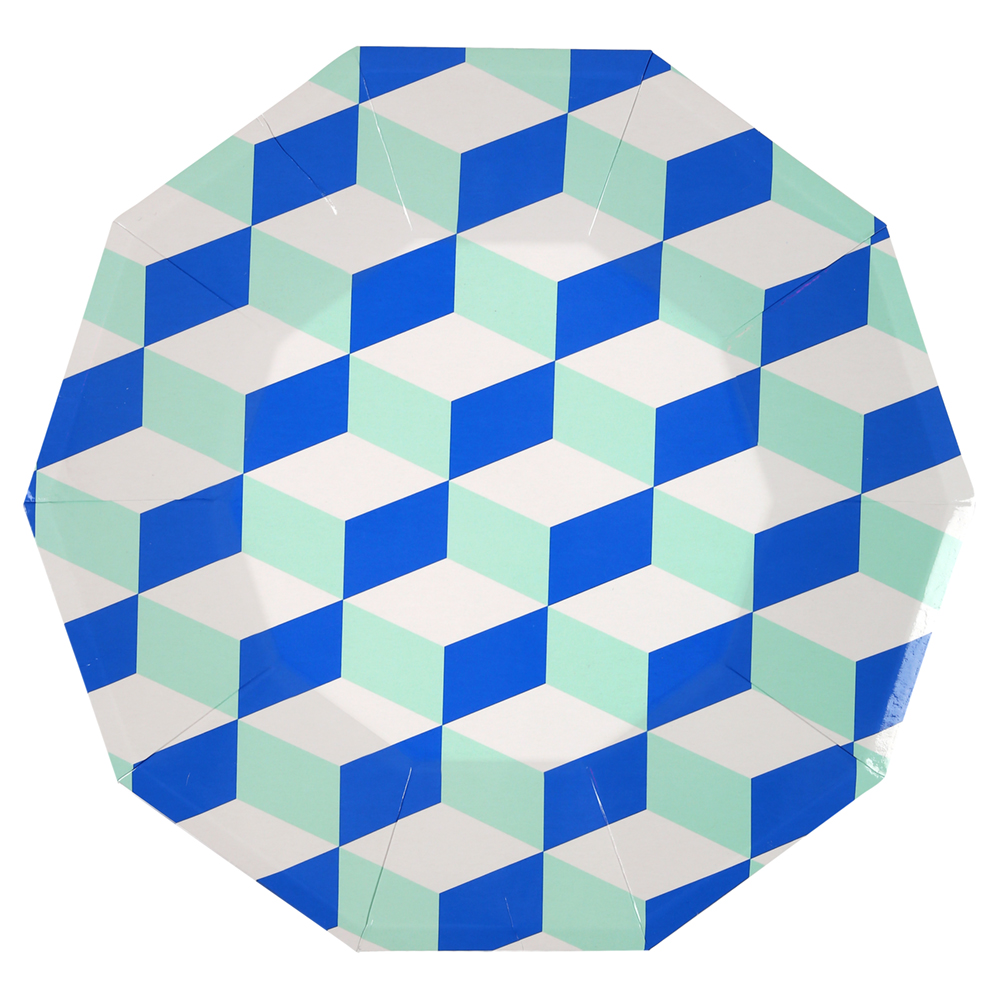 BLUE AND MINT PATTERNED   PAPER PLATES  sc 1 st  otherletters & BLUE AND MINT PATTERNED   PAPER PLATES u2014 OTHERLETTERS