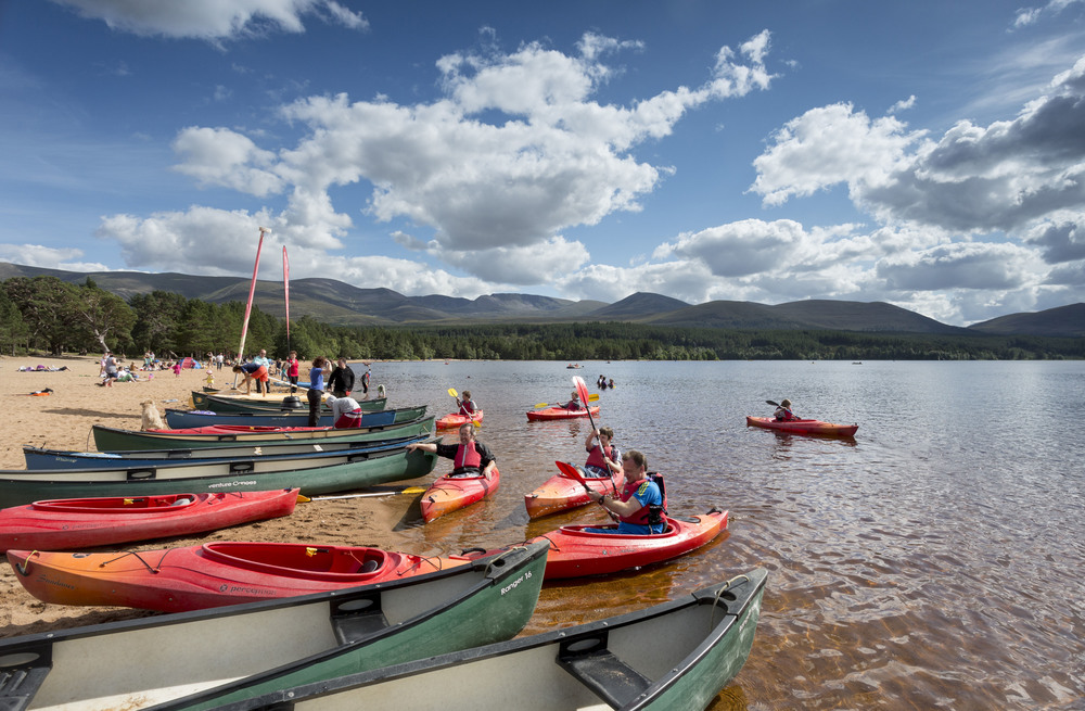 Kayaking on Loch Morlich (Pic credit: VisitScotland.com)
