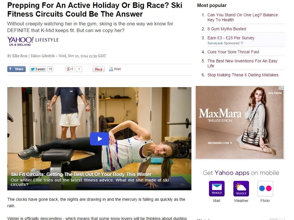 Yahoo Lifestyle, 12 November 2014