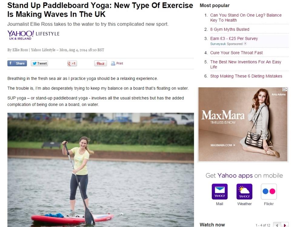 Yahoo Lifestyle, 4 August 2014