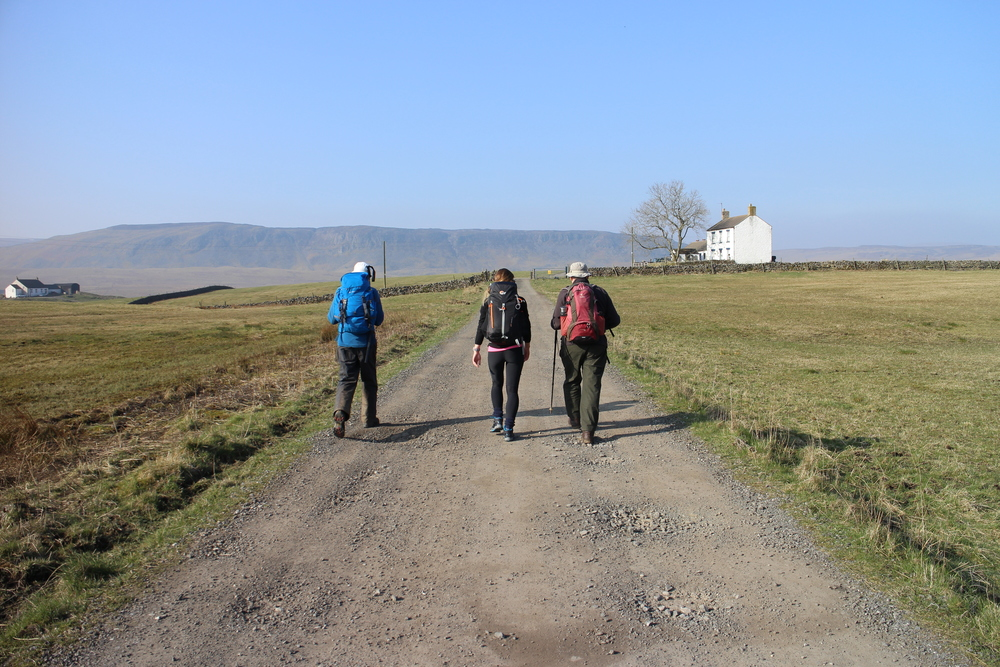Setting off from Langdon Beck