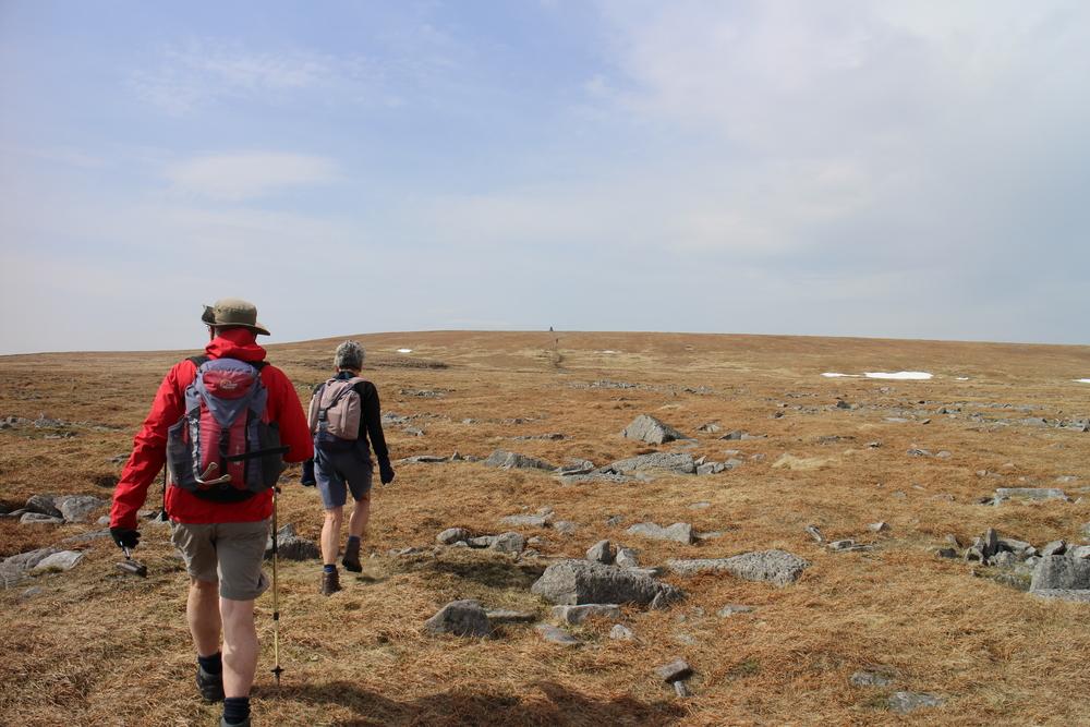 Rocky, barren trail to Cross Fell