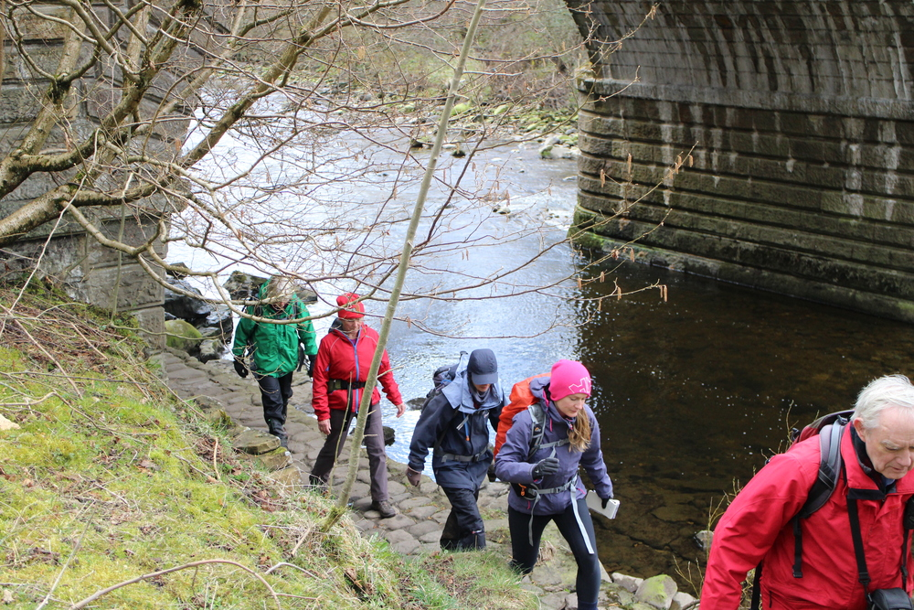 Beneath the bridge at Alston
