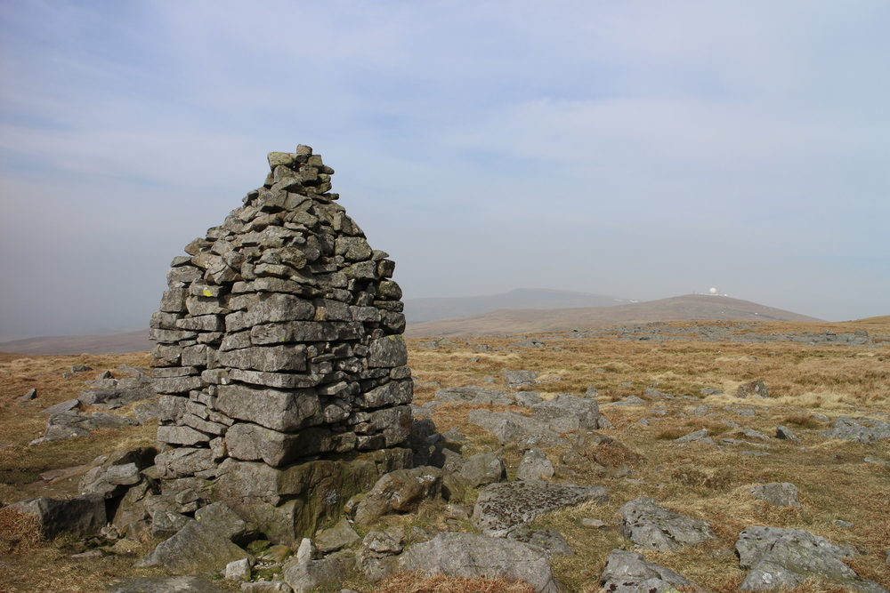 A cairn on Cross Fell