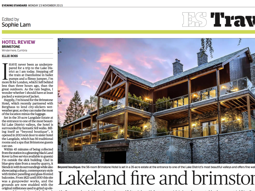 Evening Standard, November 23 2015