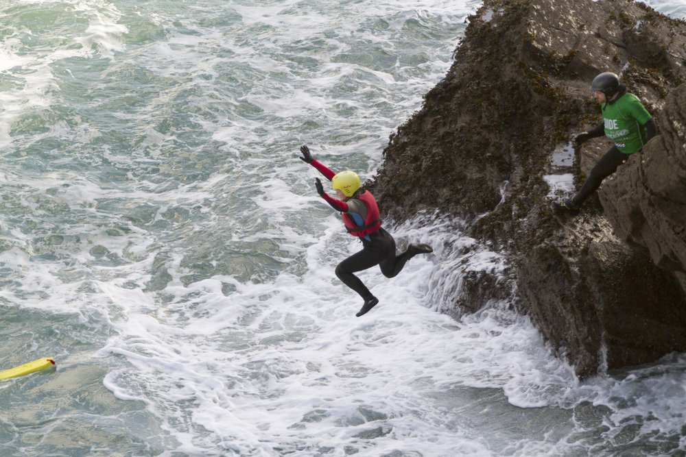 Taking the plunge (Image: Warrick Murphy / Newquay Activity Centre)