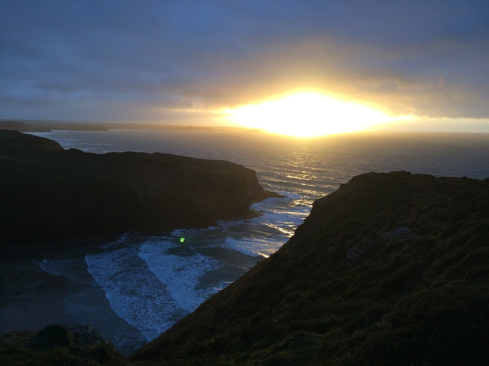 Sunset over Newquay (Image: Ellie Ross)