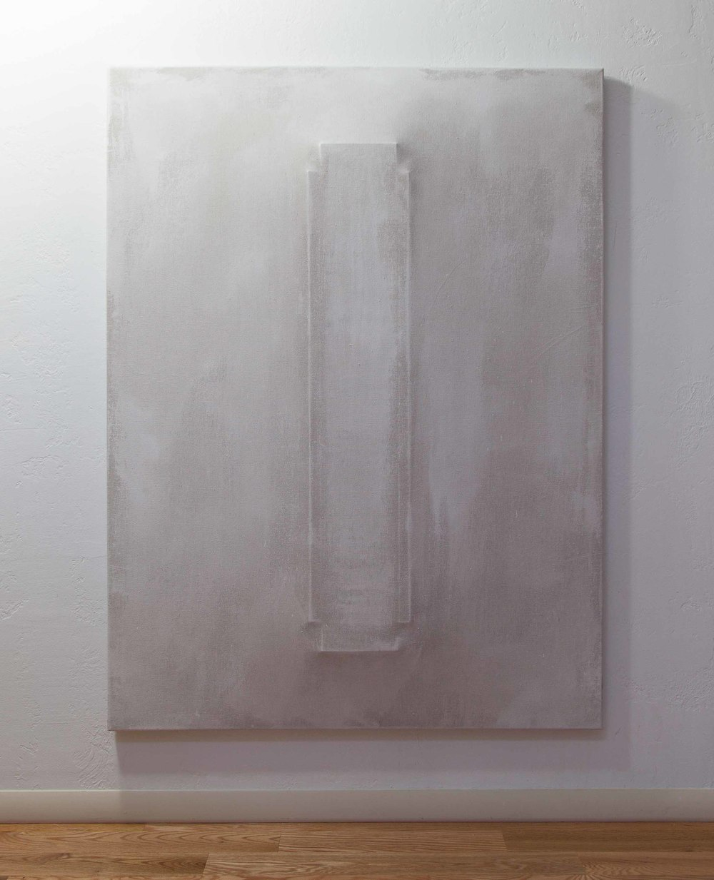 There's a Block in the Void (1270) , 2015, gesso on shaped canvas, installation *