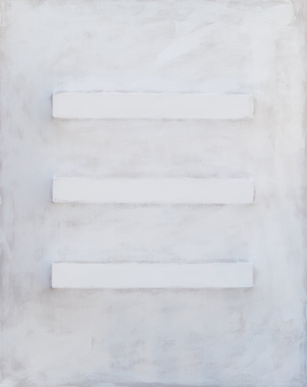 There's a Block in the Void (2759) , 2017, gesso on shaped canvas, 60 x 48 x 5.5 in. *