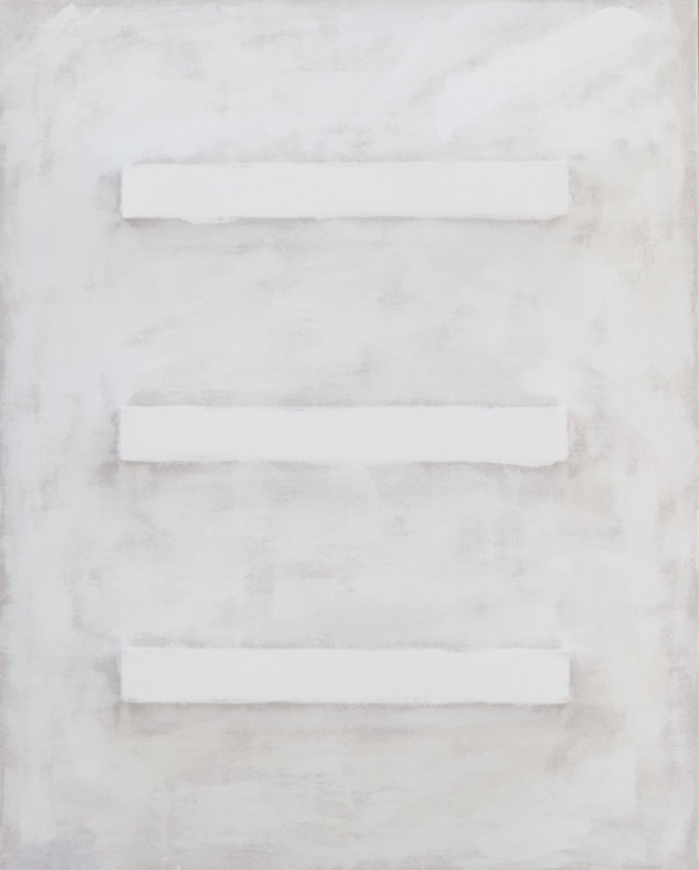 There's a Block in the Void (2786) , 2017, gesso on shaped canvas, 60 x 48 x 4 in. *