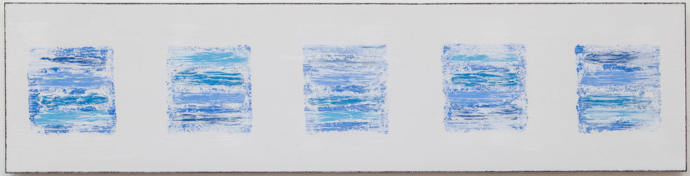 Tulum , 2018, acrylic on canvas, 12 x 48 in.