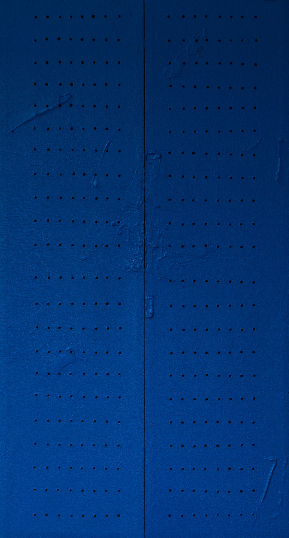 Secret Sauce Blue , 2018, mixed media on canvas, 48 x 26 in.