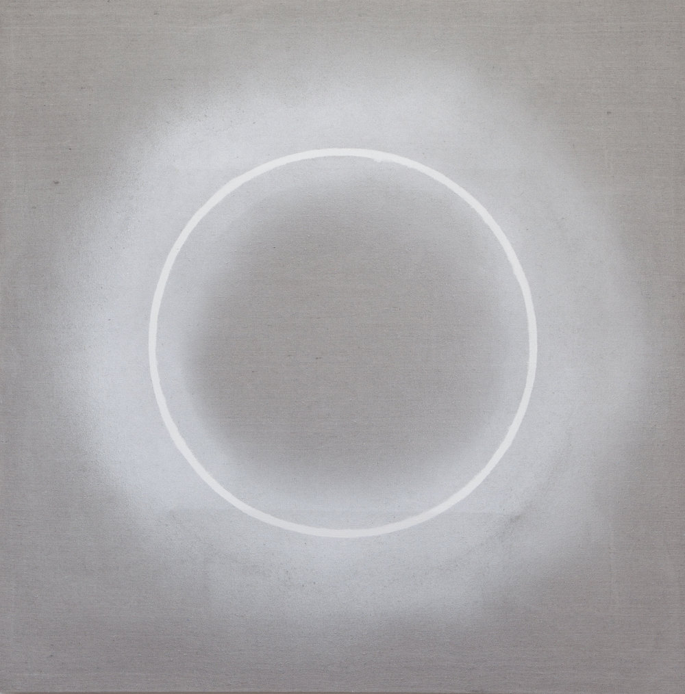 Circle2 b , 2018, mixed media on canvas, 31.5x31.5 in.