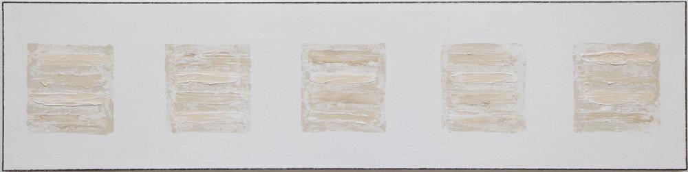 Joshua Tree , 2018, mixed media, gesso on canvas_12x48.
