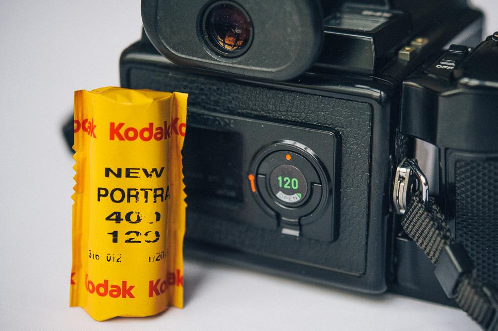 Spule Rollfilm Pentax