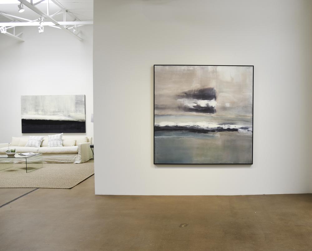 """Mixed Media 72x72"""" canvas Ebony frame."""