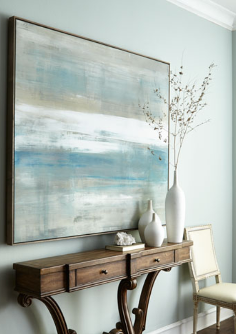 "Beneath Painted in late 2011, the original work is sold. Reproductions are offered in various sizes. Shown:  Neiman Marcus version in 52x60"" canvas,  driftwood frame."