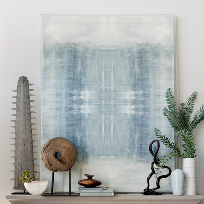 "Driven Textile No. 1 The first textile from the master painting, Driven. Various canvas size options are available, as well as 45x60"" version offered by Williams-Sonoma Home in an acrylic float frame."