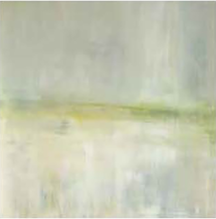 Mesa Layers of greens, grays and subtle yellows.  Reproductions are offered in various size options.