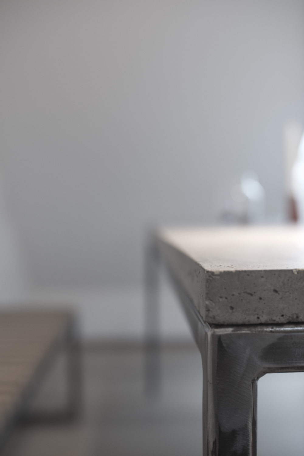 DINING TABLE  |  CONCRETE + STEEL