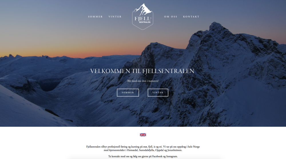 WEB DESIGN AND DEVELOPMENT: WWW.FJELLSENTRALEN.NO