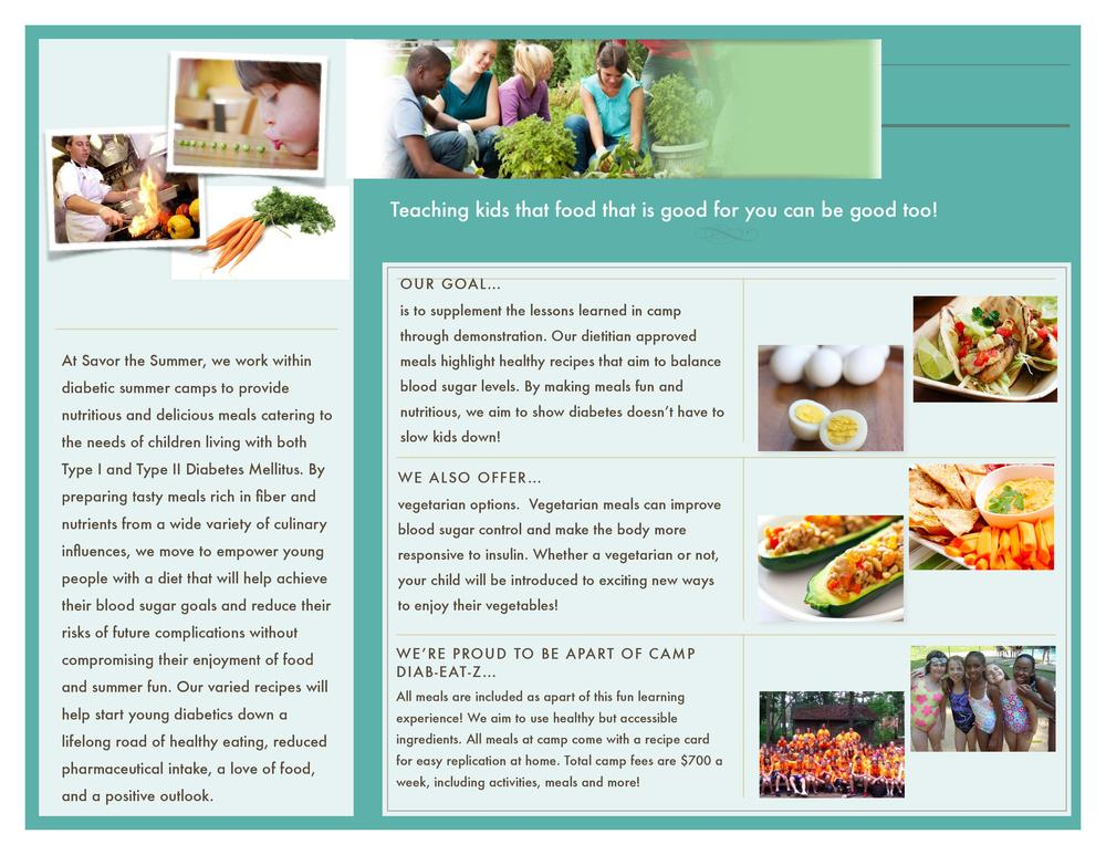 Brochure for Diabetic Camp