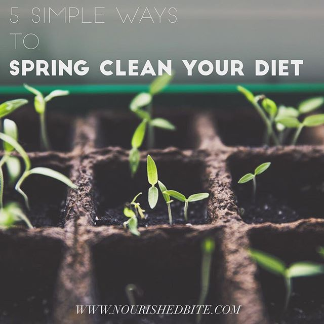 It's spring! It's (almost) time to pack away our winter coats and sweaters - finally! As we clean out our closets, it's also the perfect time to check out and spruce up our diets too. From planting a garden, to cleaning out the fridge, here are 5 ways simple ways to spring clean your diet. Link in profile!