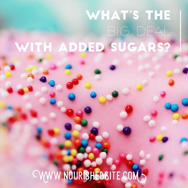 It seems like everywhere you look, someone is talking about added sugars. But it's just sugar, right? What's the big deal? Here's all you need to know about this much buzzed about topic. Check out the link in my profile!