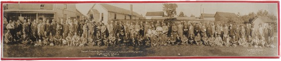 International Brotherhood of Magicians first-ever convention in Kenton, Ohio, June 1926.  My great-grandfather stands next to Harry Blackstone.  Behind them is Durbin's home and his magic theater.