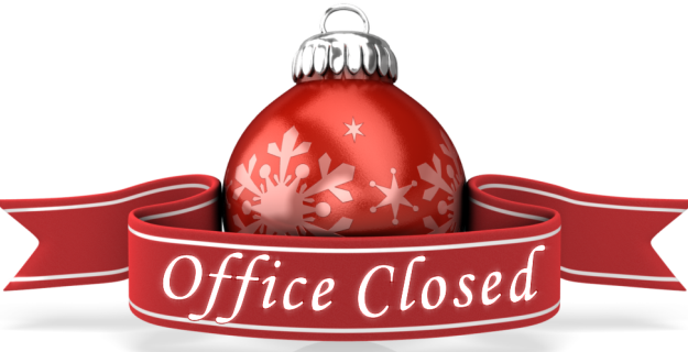 Church Office will be closed December 25th and 26th for Christmas