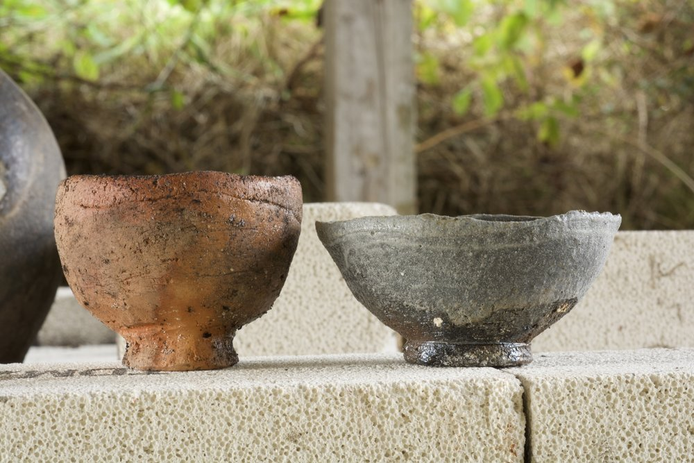 wood fired native clay cups. davidholden.ie