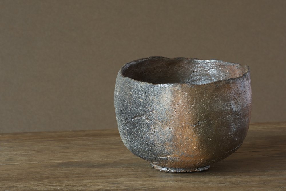 wood fired tea bowl, native clay. davidholden.ie