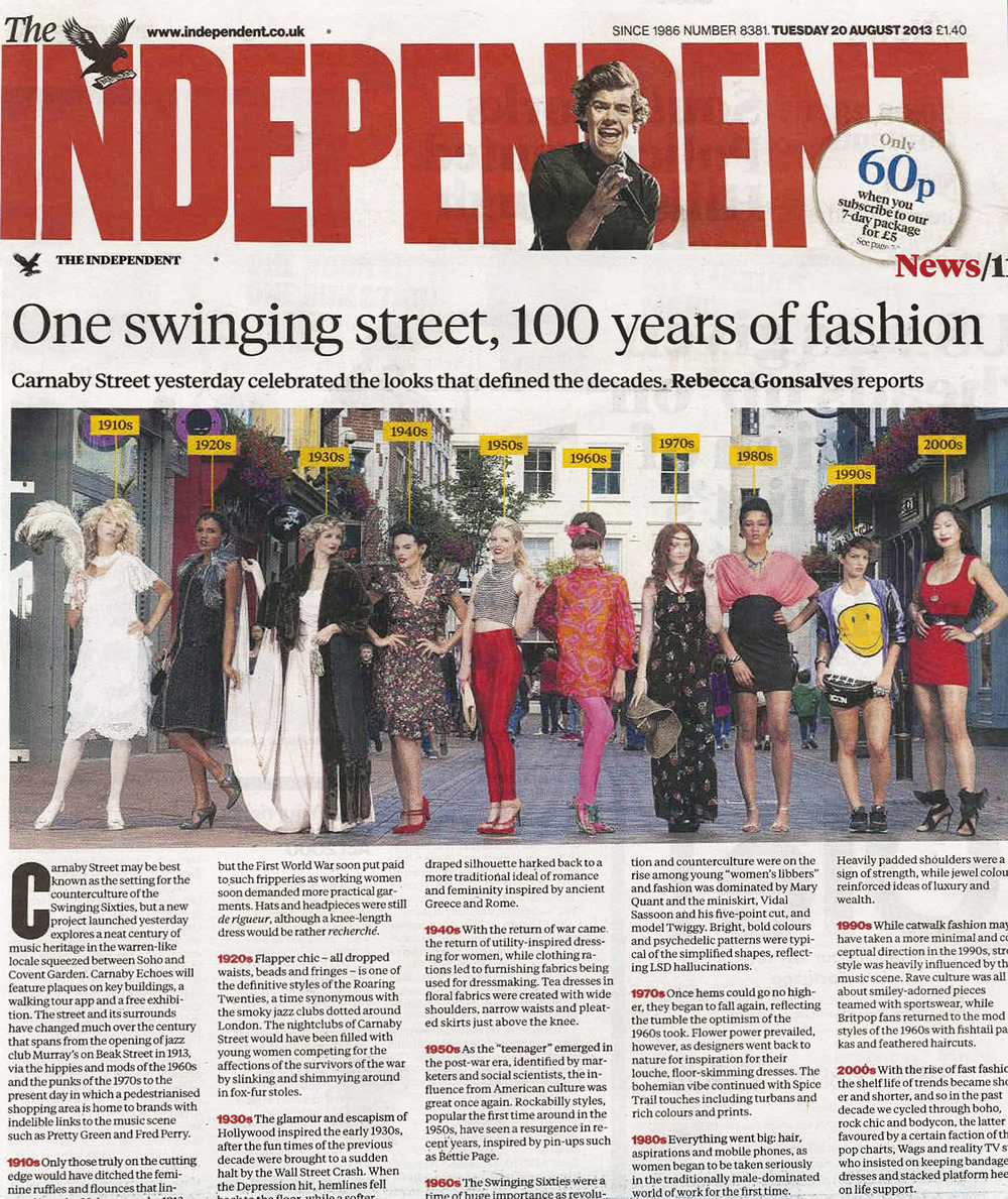 The Independent. 20 August 2013. Carnaby Echoes.jpg