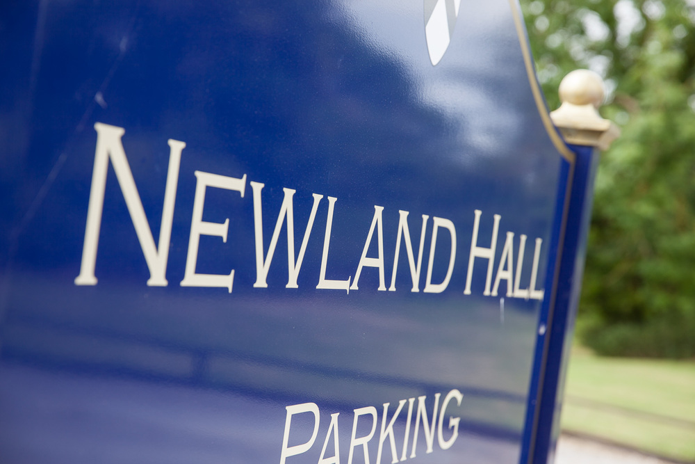 Newland hall sign