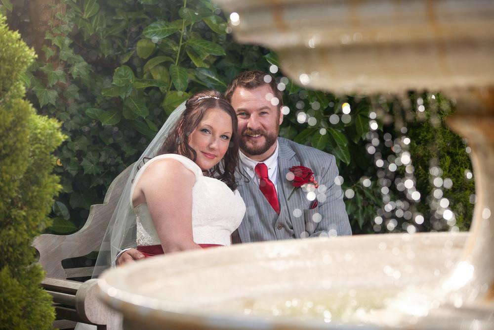 fountain couple shot
