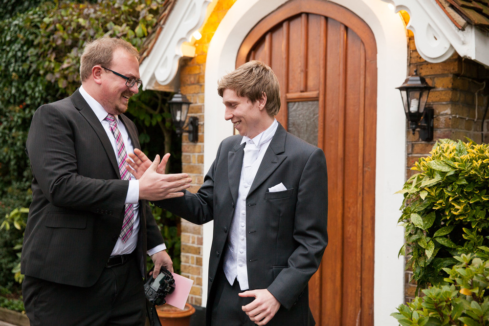 groom meets with long lost friend