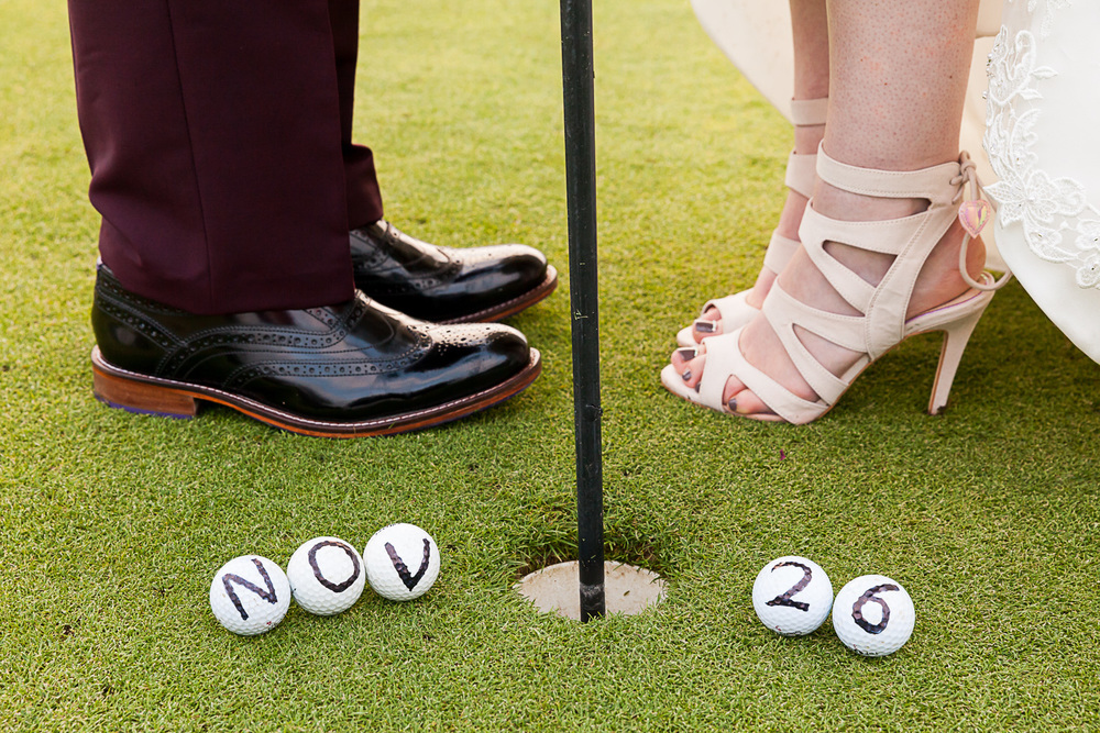 save the date golf shot