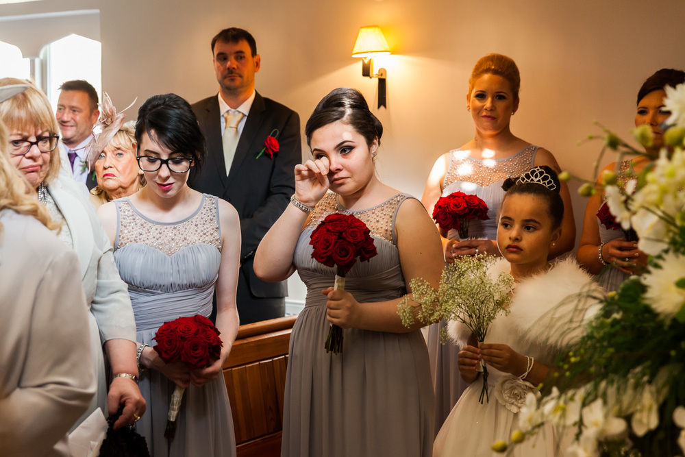 emotions from the bridesmaids