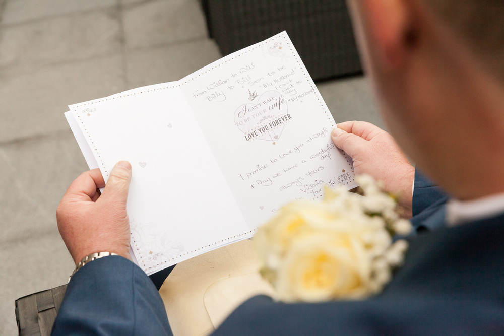Touching letter from bride