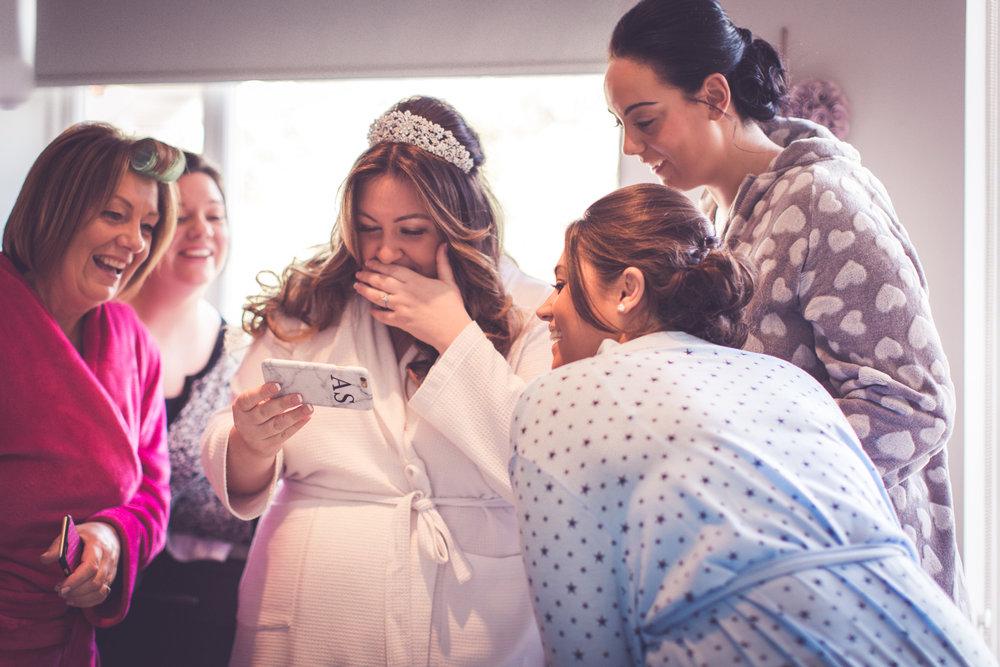 The brides surprise