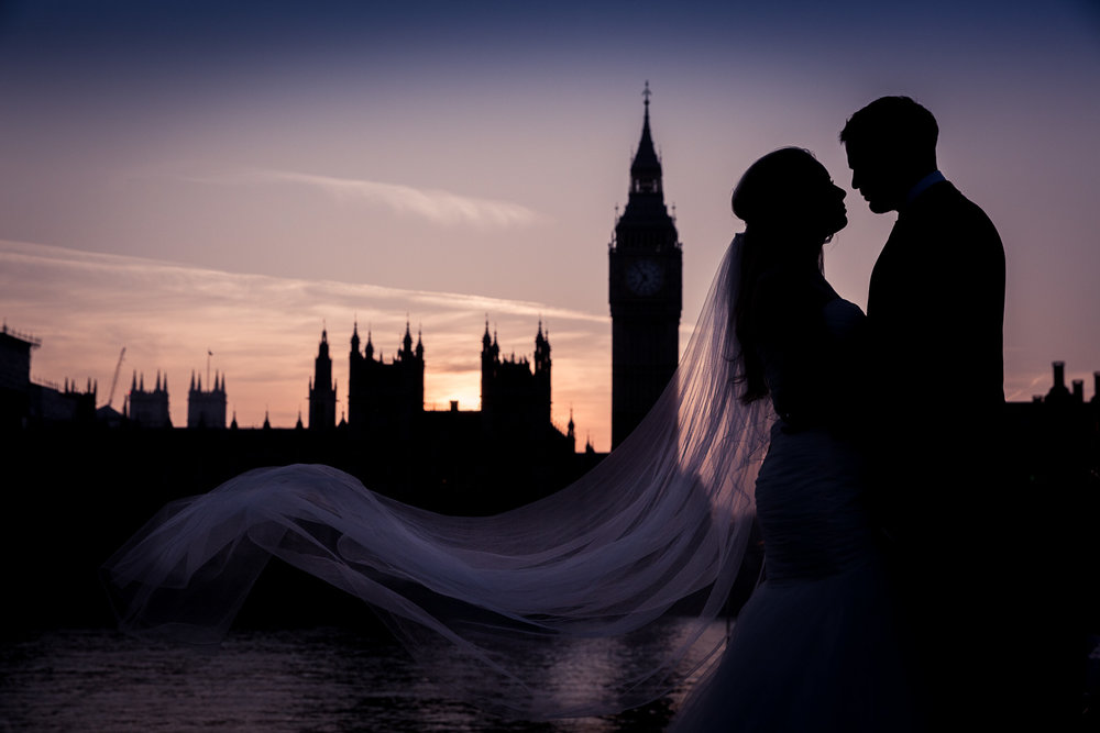 signature wedding edit of couple at Big Ben in London