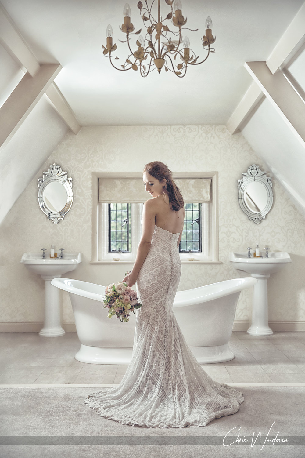 BRIDAL PORTRAIT - WOODHALL MANOR IN SUFFOLK