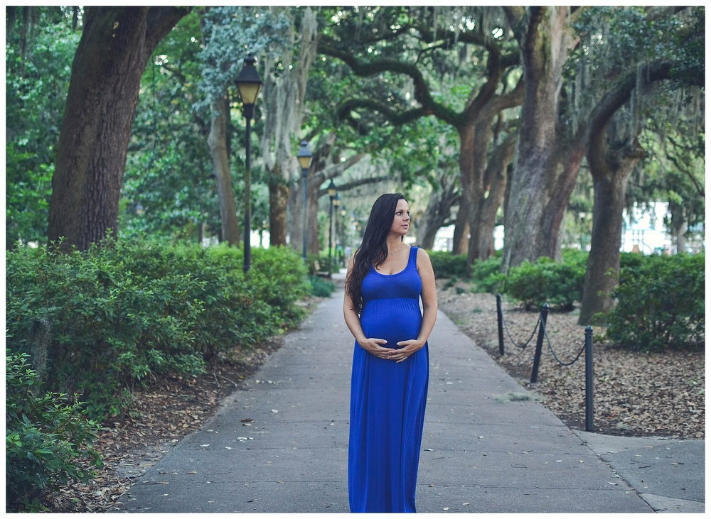 This photo was a capture in Savannah as well. Those trees, the color of her dress, and that belly! The stars just aligned during this shoot and the beauty that came from it leaves me in absolute awe