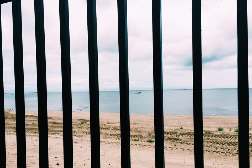Lake Erie. Taken from in line at the Gatekeeper coaster. iPhone image.