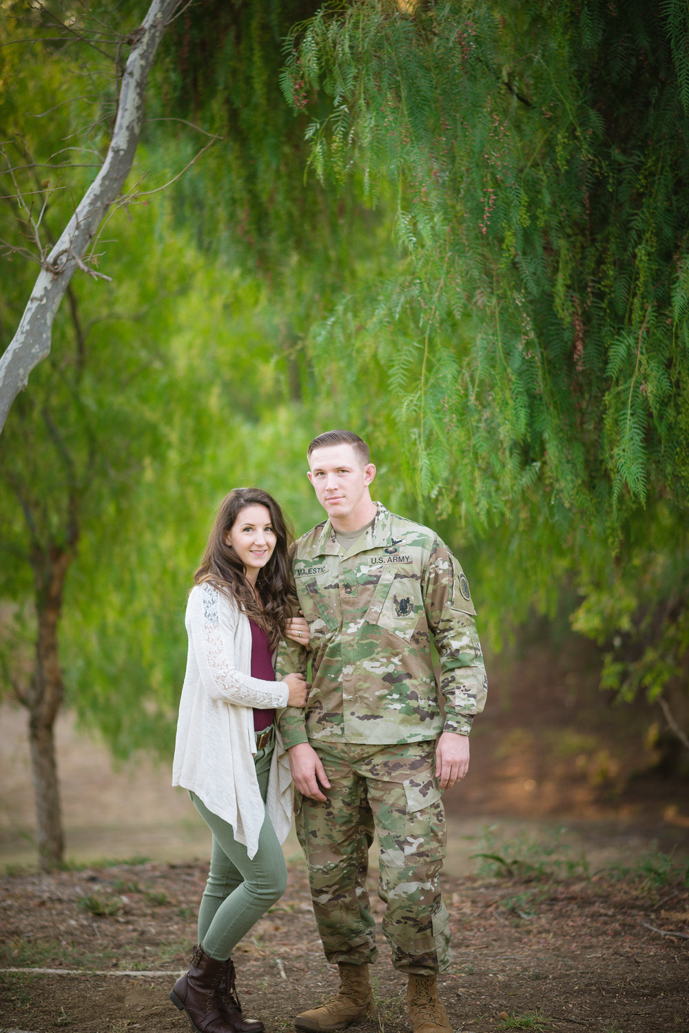 Will, Robyn's hunky hubby is a member of the Armed Forces. His actual title is Sergeant First Class Majestic. How amazing is that?! He and his family have sacrificed SO much for our freedom, and I am so beyond thankful for families like them. Always remember, freedom is not free. <3