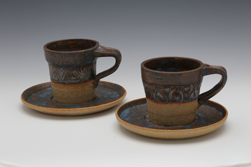 Carved Tea Cups